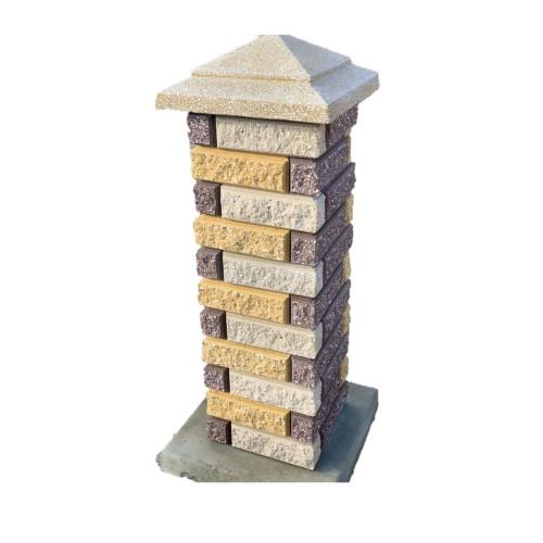 Декоративный заборный блок и кирпич